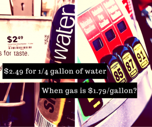 drink prices v gallon of gas